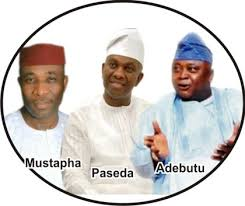 Photo of LEKAN MUSTAPHA, ROTIMI PASEDA, LADI ADEBUTU, OTHERS POISE TO BLOCK YEWA COUNTERPARTS