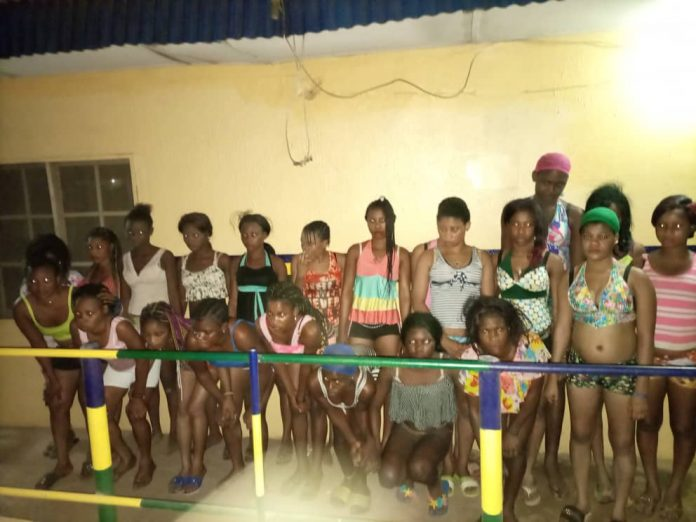 Ogun Police Rescued 22 Under Age Girls From Prostitution Home